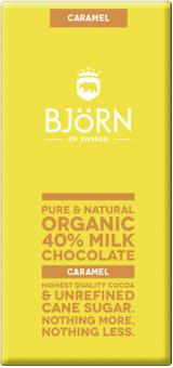 40 % Milk Chocolate Caramel - Björn of Sweden - 90g