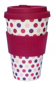 ecoffee cup to go 400ml Pink Polka