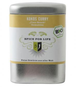 Kokos Curry - coco beach - 70 g Dose - MHD 10/18