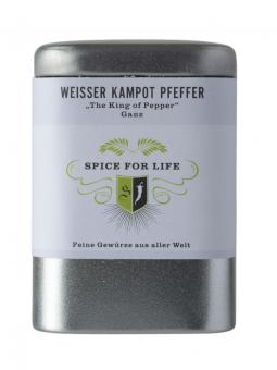 weißer Kampotpfeffer - Spice for Life - 60g Dose